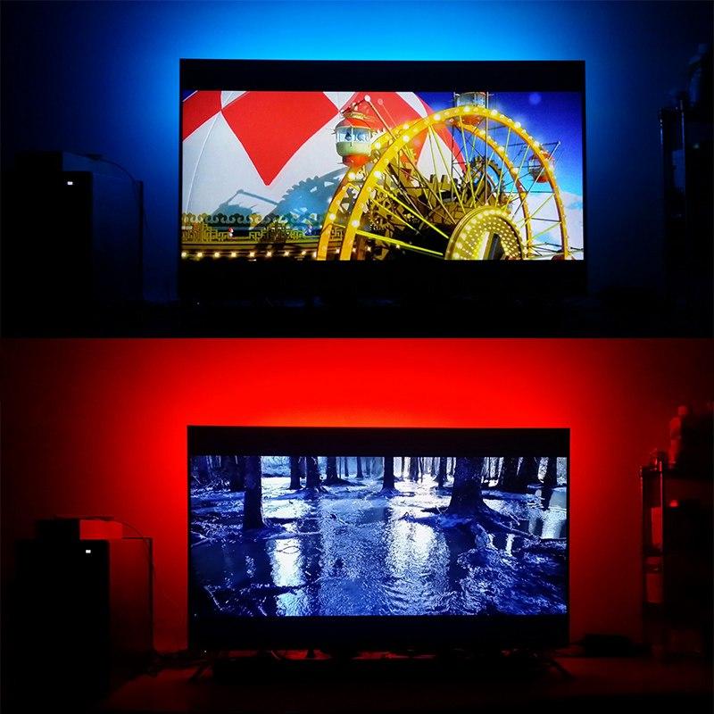 Светодиодная лента с пультом настройки цвета подсветки