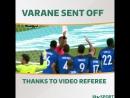 Красная карточка Варану благодаря видеорефери