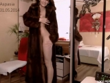 Aspasia надела шубу на голое тело  Webcamvideo - free video from popular adult webcam