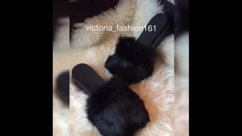 Тапочки 4000 Мех натуральный кролик Размерный ряд 35-41 Цвет черный, фуксия, голубой, марсал