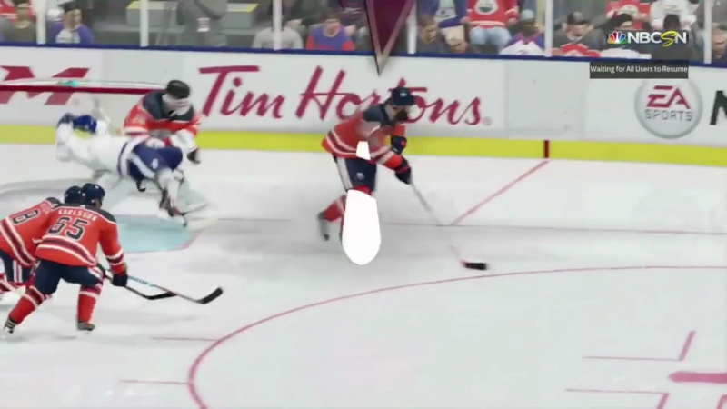 I think Burns invented a new way to get a tripping penalty