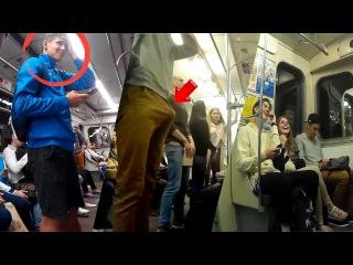 видео парней с эрекцией в метро - 3