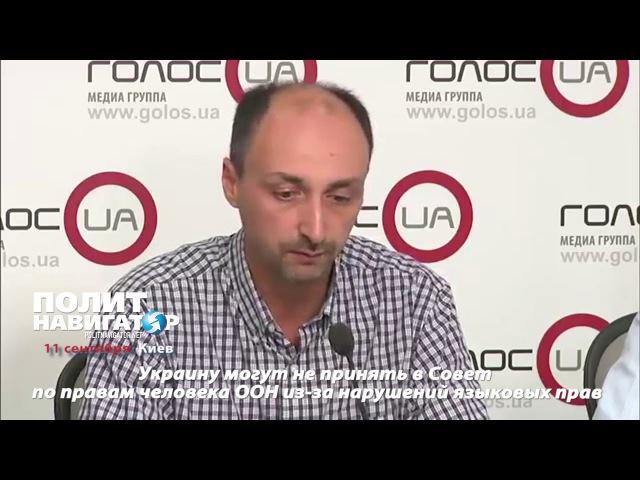 Украину могут не принять в Совет по правам человека ООН из за нарушений языковых прав