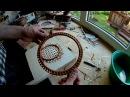 №24 Плетение основания на основе полотна из ленты лозы Плетение из лозы Wickerwork