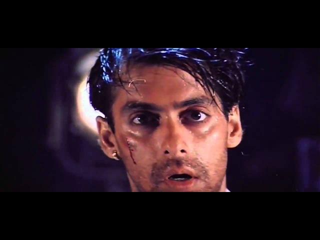 Salman Khan Brilliant Fight scene - Super acting - Karan Arjun