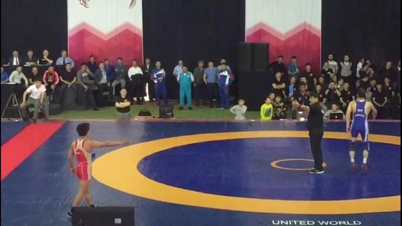 Полуфинал Калиев Расул Амиртаев Куат вес категория 61 кг ЧРК 2018 год г Шымкент