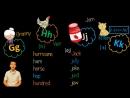 9. Английский (Правила чтения)_ LETTER Gg, Hh, Jj, Kk _ БУКВА Gg, Hh, Jj, Kk (Max Heart)
