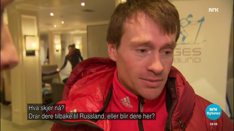 Maxim Vylegzhanin on being among 6 Russian skiers provisionally suspended from the World Cup