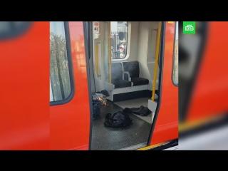 Первые секунды после взрыва в метро Лондона