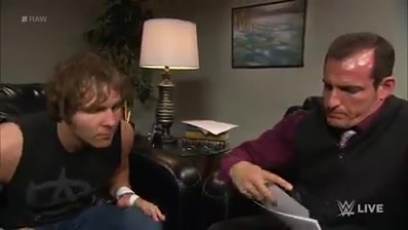 Dean Ambrose undergoes psychological evaluation Raw, January 12, 2015