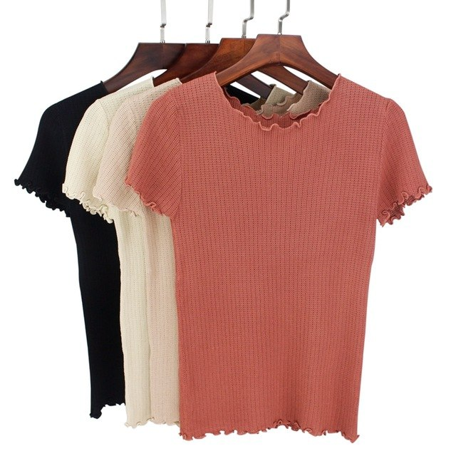 Ажурная футболка в 6 цветах