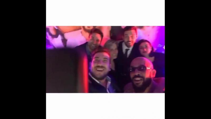 DamatTakımı Gala Gecesinden FurkanAndic ailesi ve arkadaşları ile.