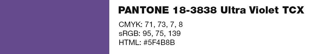 PANTONE 18-3838 Ultra Violet TCX