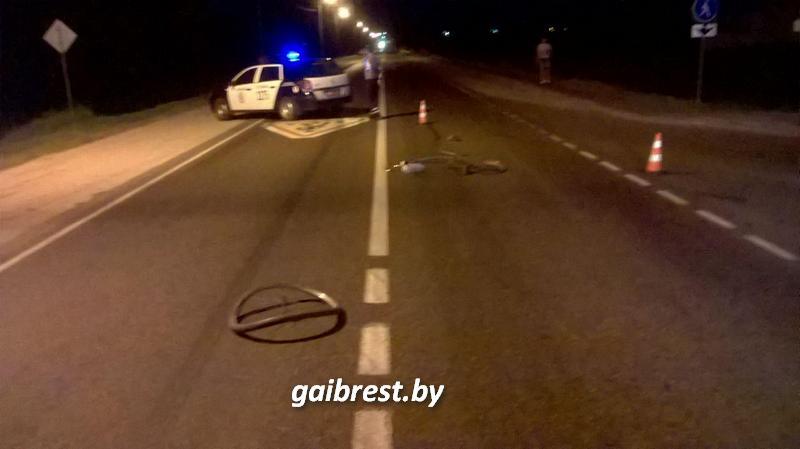 В Пружанском районе в результате наезда пострадал пьяный велосипедист