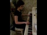 Бетховен Лунная  соната 1 часть, исп. Болатчиева Элина