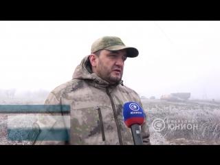 Командир батальона «Пятнашка» Олег Мамиев о визите президента Южной Осетии в ДНР.2018