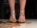 Crush crawdad silver sandals