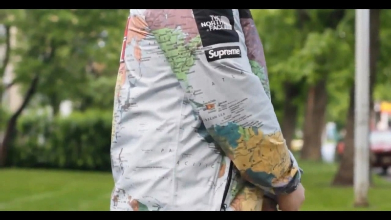 TNF X SUPREME map jacket\lootstorels2018
