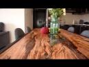 Красивый стол из дерева с применением эпоксидной смолы своими руками