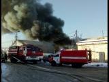 Пожар произошел на улице Пойма.