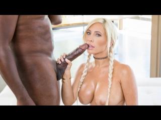 Tasha reign interracial, big tits, blowjob, oil