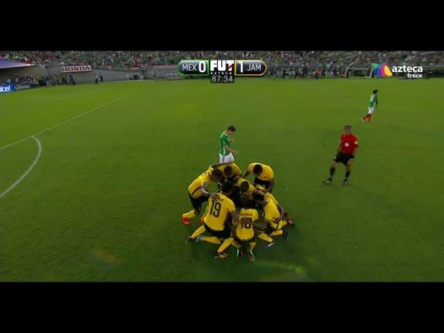 Mexico vs Jamaica 0-1 2017 RESUMEN GOLES All Goals Copa Oro Semifinal VERGUENZA TV AZTECA