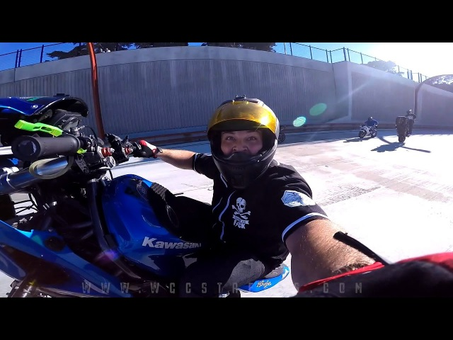 GoPro gets passed around motorcycle riders