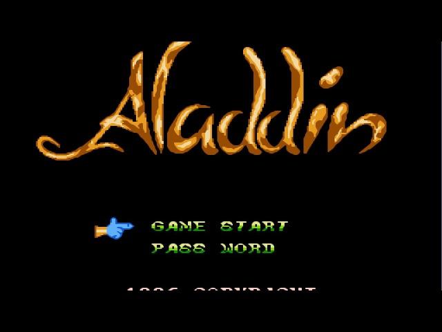 Aladdin NES Прохождение Аладдин Dendy Денди Walkthrough