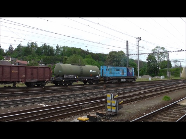 Šocení | Vlaky ve stanici Zábřeh na Moravě 20.5.2017