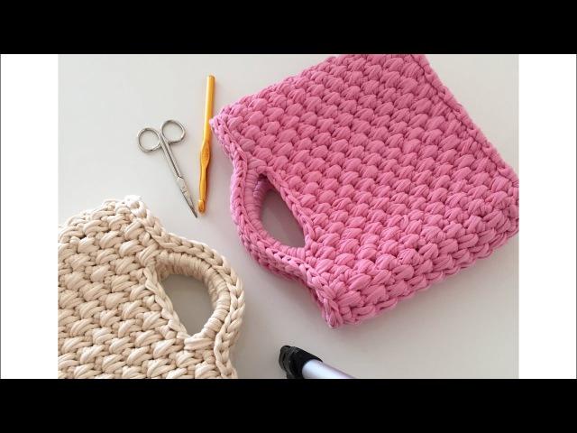 Penye ip ile çanta yapımı-1