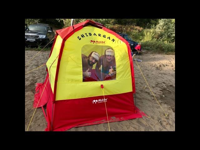 Эксклюзивная походная баня Mobiba 150 градусов в палатке