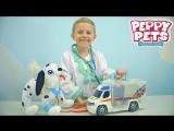 ДОКТОР ДАНИК и спасение Щенка Далматинца Peppy Pets. Собираем медицинскую станцию Скорой Помощи