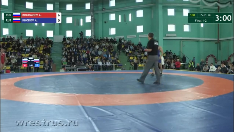 На призы Владимира Семенова 2017, Нефтеюганск - финал до 61 кг, Богомоев - Ходов