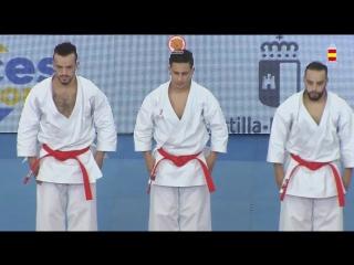 Гвадалахара-2018. Финал в мужском командном ката