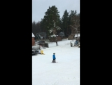 Тренировка ребят в Raduga ski club