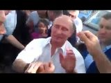 Как Крымские Крымские татары Путина встречали в Бахчисарае (Республика Крым, Россия) 12 09 2015