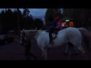 Покатались детишки на лошадке Спартак Второй День Свадьбы моей сестрёнки