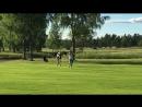 Знакомство молодого лося с трусливым гольфистом