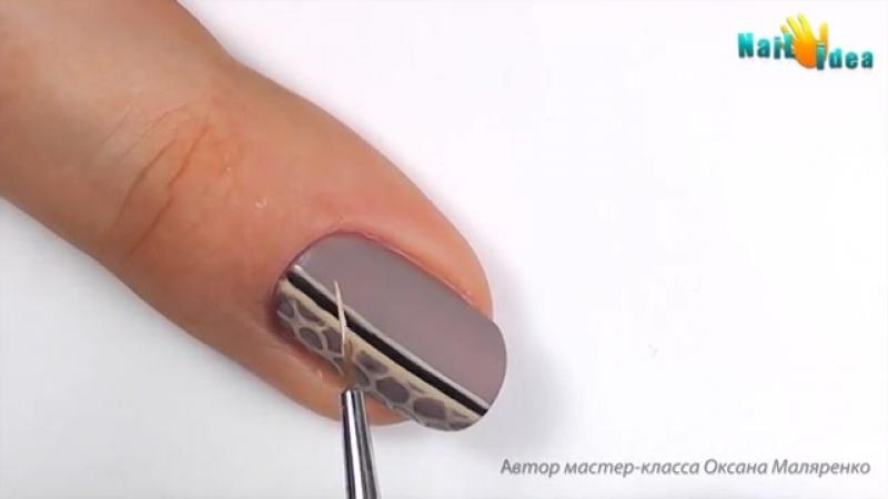 КРУЖЕВО на гель-лаке пошагово _ МАТОВЫЙ дизайн ногтей гель лаком (шеллак) Роскош