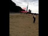 14.12.2017. Фукуока (D-2). Рисунки угрей на песке для Принца~7