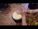 Разбор ритма Куку kUku djembe джембе партии