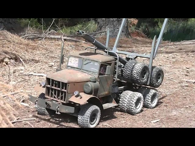FATBETTY in Clearing Out. Home made steel RC Logging Truck.