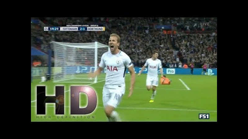 Tottenham Hotspour vs Borussia Dortmund 3-1 - UCL 2017/2018 - Highlights | HD
