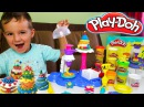 Сладкая вечеринка из Плей До, делаем Тортики и конфеты из пластилина Play-Doh Видео ...