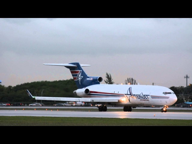 INSANELY LOUD! BOEING 727-200F TAKE-OFF Amerijet At Miami International Airport.