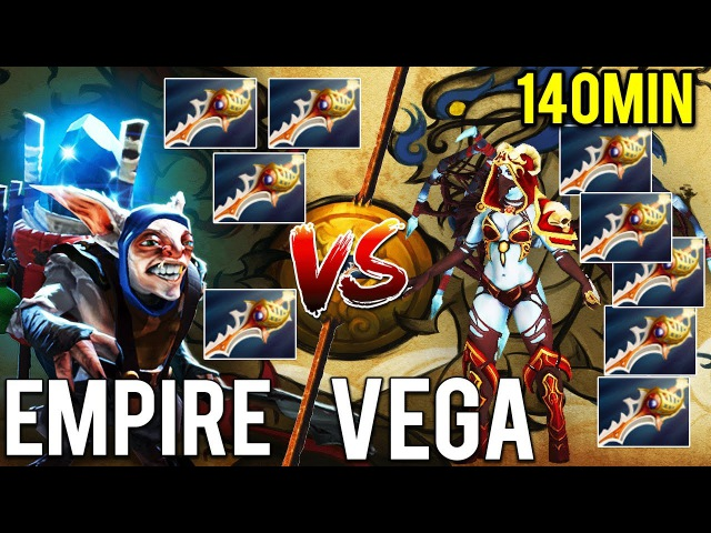 LONGEST MATCH TI7 - MEGA CREEPS - 9 RAPIERS - RECORD ON MOST CS - EPIC MATCH - Empire vs Vega TI7