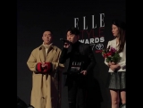 [02.11.2017] Gray, Loco and Hoody accepting AOMG's award for Best Music Act at the Elle Style Awards 2017