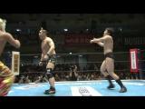 Tiger Mask IV, Hirai Kawato vs. Yoshinobu Kanemaru, TAKA Michinoku (NJPW - Kizuna Road 2017 - Day 8)
