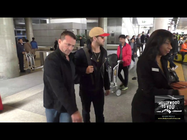 Ryan Gosling and Jodie Foster arriving at LAX Airport in Los Angeles