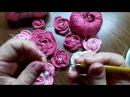 Роза связанная крючком по серпантину для Ирландского кружева Урок 1